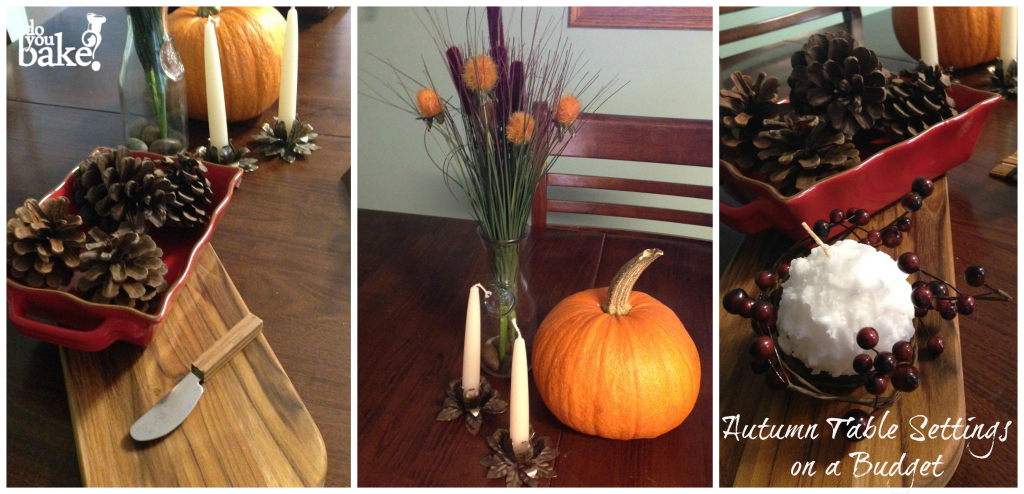 Autumn Simple Table Settings