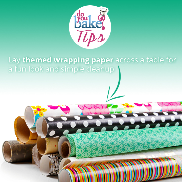 Use Wrapping Paper For A Party Table Cover