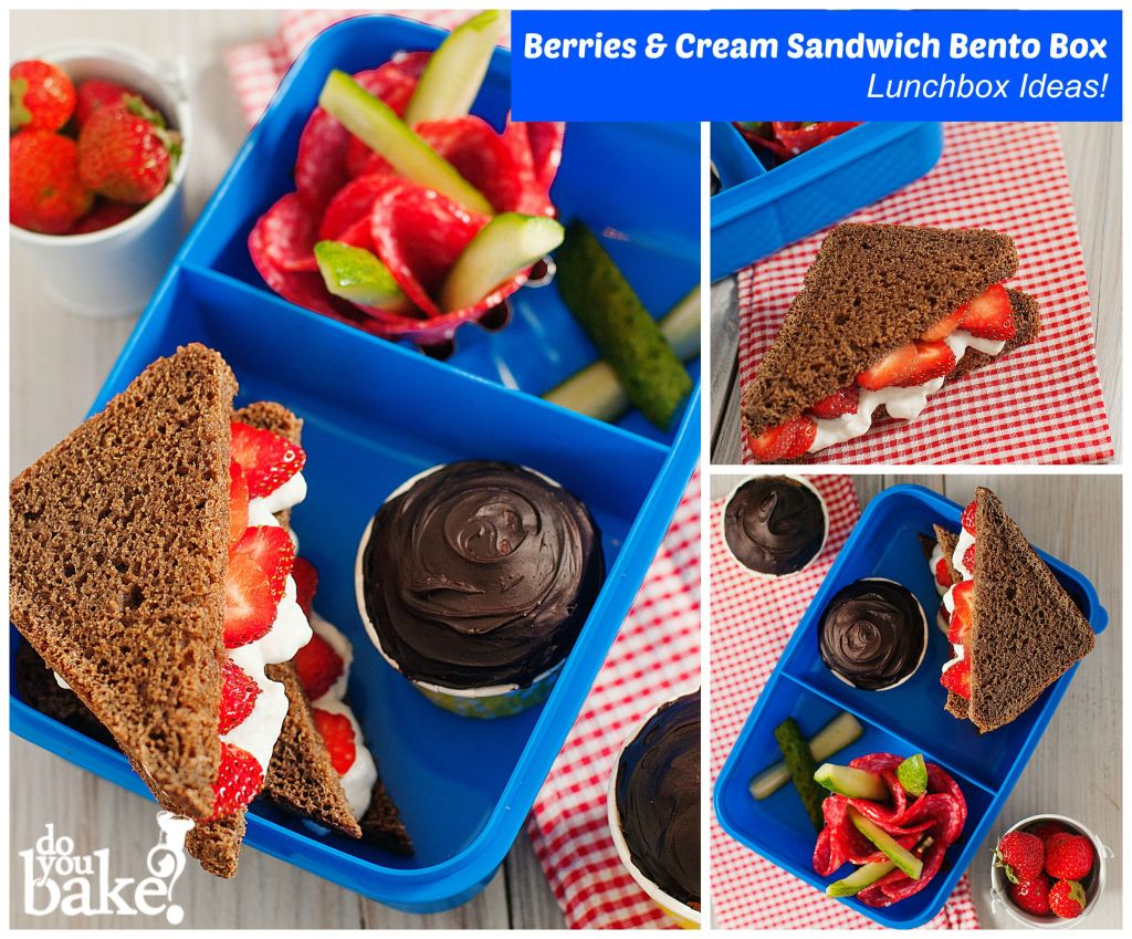 Berries and Cream sandwich bento box lunchbox ideas